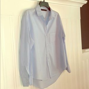 Zara Basic Collection blue button down shirt